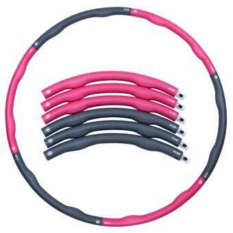 ฮูล่าฮูป Weighthoop โฟมแบบถอดประกอบได้ ขนาด 1.8 kg (สีชมพู/เทา)