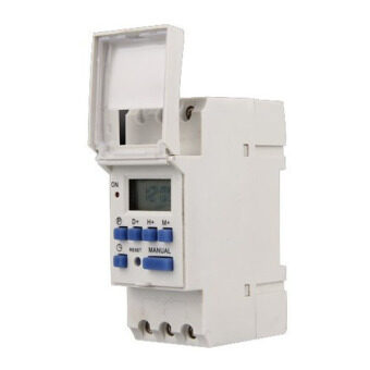Harga AC 220V 16A Digital LCD 7-Day Programmable Timer Time Relay Switch - Intl