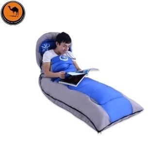 ซองถุงนอนอุปกรณ์แบบพกพาเดินทางเรือสำหรับตั้งแคมป์กลางแจ้ง (สีน้ำเงิน)