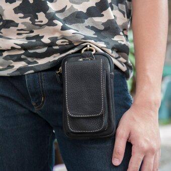 SAPA กระเป๋าร้อยเข็มขัด สำหรับใส่โทรศัพท์หรืออุปกรณ์ต่างๆ หนังแท้ รุ่น SPD01