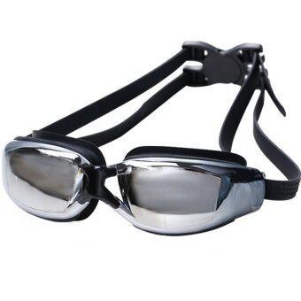 แว่นตาสำหรับว่ายน้ำถนอมสายตา ป้องกันแสงแดด UV Swimming glasses / Goggle (สีดำ)