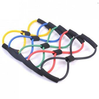 1Pcs 8-shape Chest Exercise Resistance Band Pull Rope Yoga Fitness Equipment(color random)
