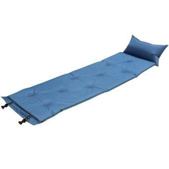 STL ที่นอนแค้มปิ้งสูญญากาศแบบสูบลมอัตโนมัติ 186x60 ซม.(สีฟ้า)