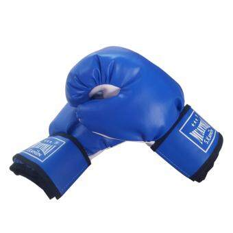 Astersports นวมชกมวยหนังPVC 6ออนซ์ (สีน้ำเงิน)