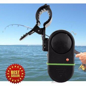 Elit สัญญาณไฟติดคันเบ็ด สัญญาณไฟเสียงเตือน เบ็ดตกปลา Fish Sound Light Alarm (Black)