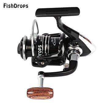 Fishdrops ขนาด 1000-7000 รอกตกปลาโลหะหมุนด้วย 13BB คลัตช์ทางเดียว (สีดำ)