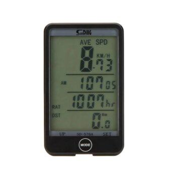 iremax sunding สำหรับจักรยาน รุ่น SD-576A Bike Bicycle Cycling Wireless LCD Computer Odometer Speed Speedometer Waterproof (สีดำ)