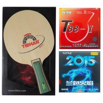 ไม้ปิงปอง TIBHER MATCH + ยางปิงปอง Sanwei T88-I + ยางปิงปอง Tuttle 2015 Good