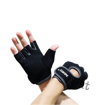 Elit AOLIKES ถุงมือฟิตเนส Fitness Glove Weight Lifting Gloves (Gray)