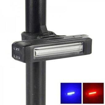 ไฟท้ายจักรยาน COMET 2สี (แดงสลับน้ำเงิน) USB