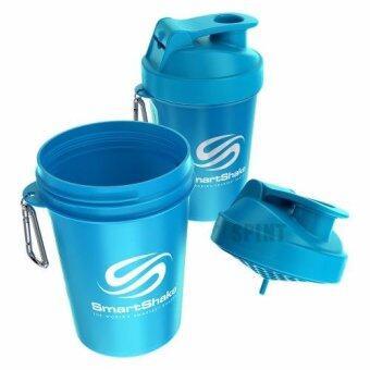 SmartShake ใส่เวย์โปรตีนทานหลังออกกำลังกาย หรือ เกลือแร่ หลังฝึกซ้อม - สีฟ้า
