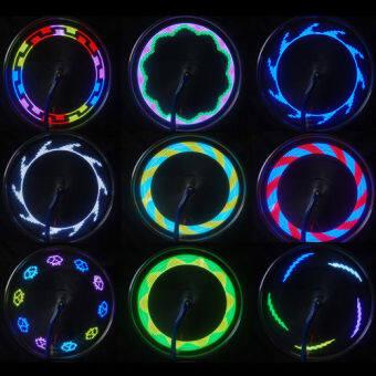 14 ยางล้อจักรยานจักรยาน led สัญญาณไฟกระพริบแสงถึง 32 เปลี่ยนจ้า