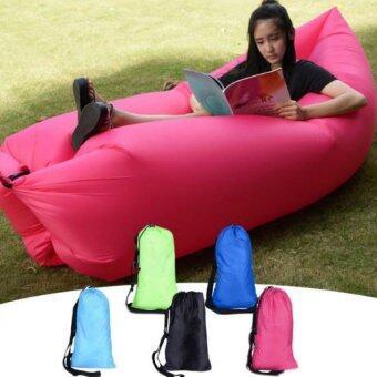 โซฟาลม แบบพกพา Air Inflatable Hangout Sofa, Sleeping Bag, Beach Lounge Sofa air bag (สีชมพู)