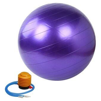 Kinglion Sport 75CM ลูกบอลโยคะผิวเรียบสีม่วง โยคะบอล ลูกบอลออกกําลังกาย ฟิตบอล ลูกบอลฟิตเนส ฟิตเนสบอล ยิมบอล อุปกรณ์ฟิตเนส ออกกําลังกายลดพุง Purple Fitball Fitness Ball Yoga Ball Massage Ball