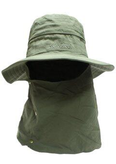 Field and camping หมวกปีกปิดหน้า ขนาด 32x33x10 ซม.สีเขียว