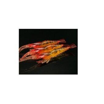 fight for fish(ing) เหยื่อปลอม กุ้งยาง สีส้ม 9 ซม.