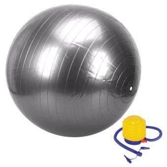 Replica Shop ลูกบอลโยคะ ขนาด 65 ซม. พร้อมที่สูบลม - สีเทา