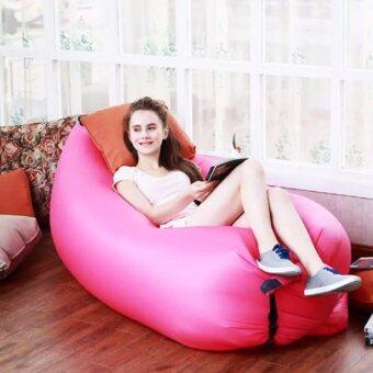 โซฟาลม (สีชมพู) ที่นอนลม ใช้งานง่าย พับเก็บง่าย แบบพกพา Air Sofa มี 8 สี