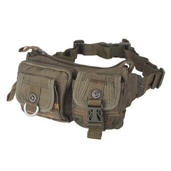 ซองกระเป๋าไนล่อนเอว Innturt หลายกระเป๋ากระเป๋าสะพายกระเป๋าหน้าอกกลางแจ้ง (กองทัพสีเขียว)