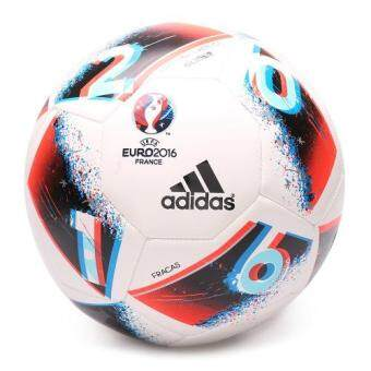 ADIDAS ลูกฟุตบอล รุ่น EURO16 GLIDER - AO4843-5 (WHITE/BRBLUE/SOLRED)(Multicolor)