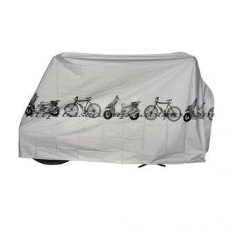 ผ้าคลุมจักรยานสีเทา