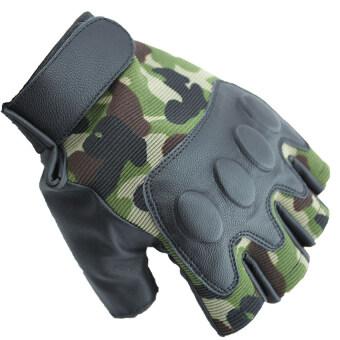 SUPER SPORT ถุงมือ ฟิตเนส ยกน้ำหนัก เทรนนิ่ง Sports Weight Lifting Half Finger Gloves -Green