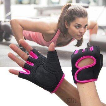 Elit ถุงมือฟิตเนส ถุงมือออกกำลังกาย Fitness Glove Weight Lifting Gloves (Pink) ขนาด S