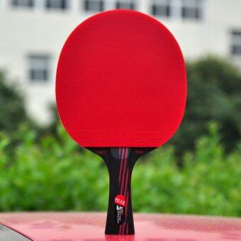 Harga PELE Entry-level Carbon Table Tennis Racket Ping Pong Paddle Send Table Tennis (Red-126-0.6)
