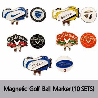 คลิปเหล็ก สำหรับติดหมวกนักกลอ์ฟ (10ชุด) - Magnetic Golf Ball Marker (10 Sets)