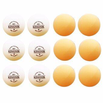 Kingnik ลูกปิงปองพลาสติค 40+ Super Training 1 ดาว Two Tone (สีขาว/ส้ม 12 ลูก)