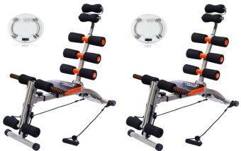 SIX PACK CARE B&G เครื่องออกกำลังกาย (สีดำ/ส้ม) พร้อมสายแรงต้าน+ เครื่องชั่งน้ำหนักดิจิตอล (แพคคู่)