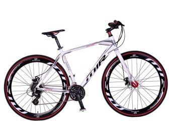 MIR จักรยานไฮบริด 700C / ตัวถัง อลูมิเนียม ไซส์ 49 / เกียร์ SHIMANO 24 สปีด / รุ่น OMICRON (สีบรอนซ์/ขาว)