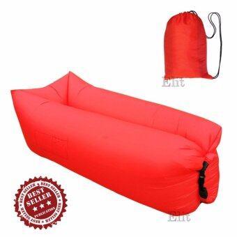 Elit โซฟาลม โซฟากล้วย เตียงลมแบบพกพา อเนกประสงค์ Air Sofa Lamzac Hang out (Red)
