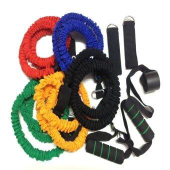 Resistant Bands ยางยืดบริหารร่างกาย ฝึกความแข็งแกร่ง 5 เส้น (สีเหลือง/เขียว/แดง/น้ำเงิน/ดำ)