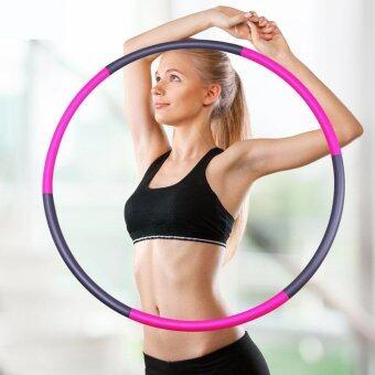 Fitness Exercise Adult Hula Hoop Women Slimming Foldable Hula Hoops Elastic Foam Smooth Type 90cm