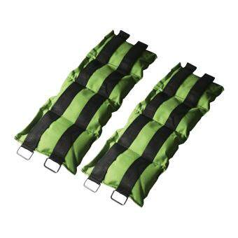 ถุงทราย ถ่วงน้ำหนัก ข้อเท้า ข้อมือ 5LB (2.5 kg) (สีเขียว) 1 คู่ / wrist weight sandbag
