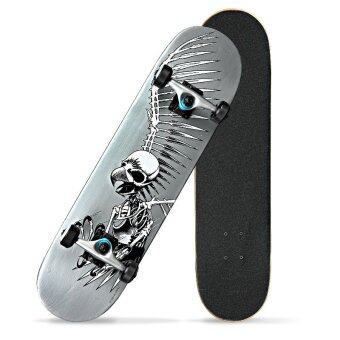 JOY The skeleton pattern adult skateboard (image 0)