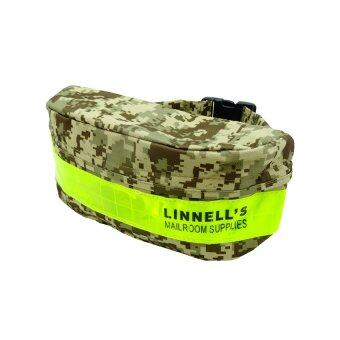 Linnell กระเป๋าคาดเอว/คาดอก มีแถบสะท้อนแสง รุ่น LN-7704 - สีเขียว/ลายพราง