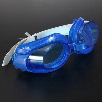 ป้องกันหมอกหลอดยูวีป้องกันผู้ใหญ่ว่ายน้ำแว่นตาว่ายน้ำสีน้ำเงินเข้ม
