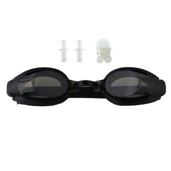 คลิปรักษาจมูกของ oem+ปลั๊กหู+ว่ายน้ำแว่นตาป้องกันรังสียูวีปรับได้หมอก