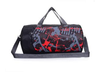 ASPIRE กระเป๋าฟิตเนสทรงสปอร์ตสะพายข้าง (ลายแดง)
