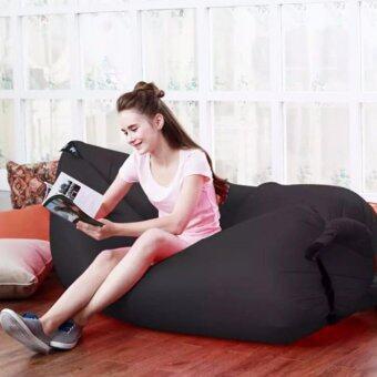 โซฟาลม (สีดำ) ที่นอนลม ใช้งานง่าย พับเก็บง่าย แบบพกพา Air Sofa มี 8 สี