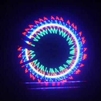 จักรยานล้อรถจักรยานการขี่จักรยานสีแสงเสียง 32 led 32...รูปแบบกันน้ำ