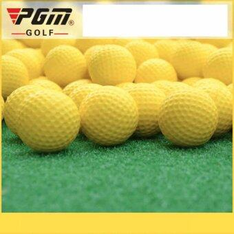 PGM EXCEED ลูกกอล์ฟPU แบบฟองน้ำ สำหรับฝึกหัดตีกอล์ฟ PGM (Q008) 12ลูก สีเหลือง