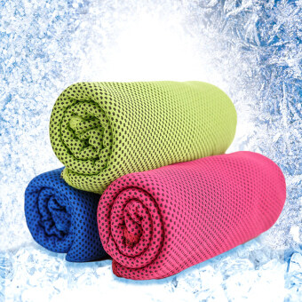 Harga (3 Pack) Cool Core Cold Feeling Cool 15 Degrees Ice Towel - Intl