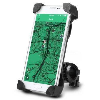 ยูนิเวอร์แซลปรับได้รถจักรยาน MTB เข้ายึดรถจักรยานยนต์จักรยานสำหรับโทรศัพท์มือถือ (สีดำ)