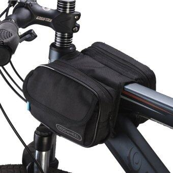 Harga Roswheel Cycling Pouch Front Bikes Frame Bag Saddle Bicycle Panniers Tube Bag Bicycle Accessories Black