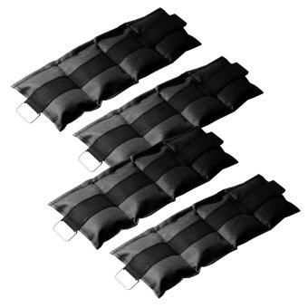 ถุงทราย ถ่วงน้ำหนัก ข้อเท้า ข้อมือ 3LB (1.5 kg) (สีดำ) 2 คู่ / wrist weight sandbag