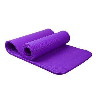 Smilely12 mm เสื่อโยคะNBR + แผ่นรองโยคะ หนาพิเศษยาว183 cm เกรดA ชุดโยคะ แผ่นรองโยคะ เสื่อโยคะ Smile0077-purpleสีม่วง