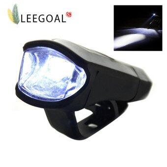 Leegoal สว่างสดใสกันน้ำสูงจักรยาน 3วัตต์ชาร์จไฟ Led ส่องผ่านหน้ารถจักรยานที่ติดตั้งง่าย (สีดำ)